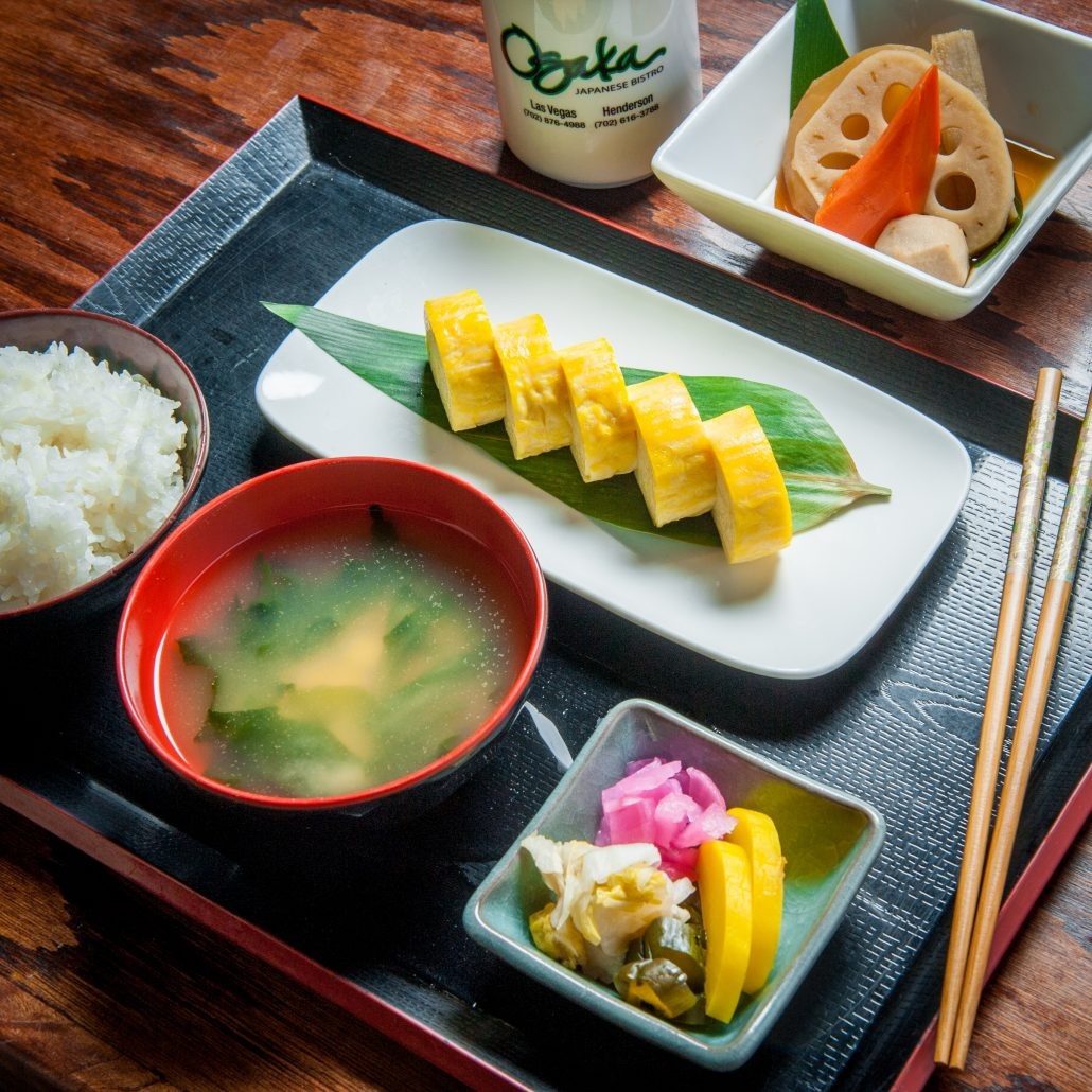 fresh sushi and appetizer plate at Osaka Japanese Bistro Las Vegas