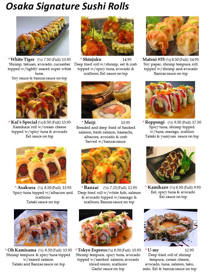 Osaka Sushi Menu Las Vegas  Slide4