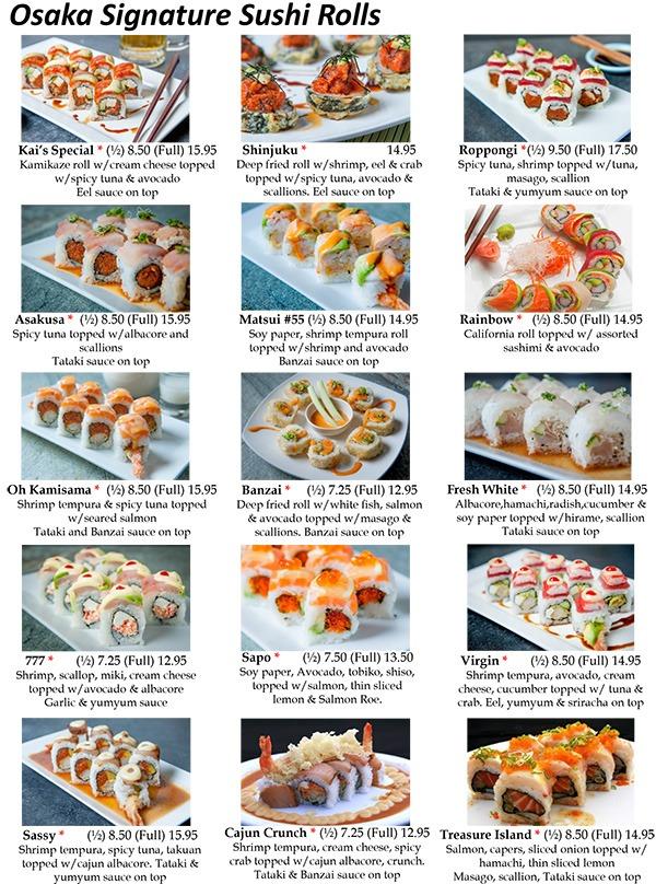 Sushi menu in las vegas for Naked fish menu