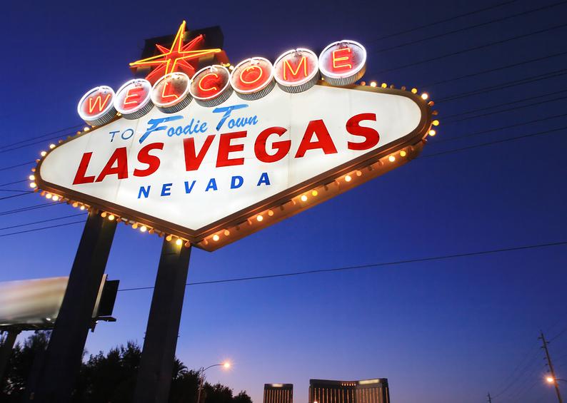 Picture of Las Vegas Sign promoting fun restaurants