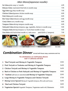 Kitchen Menu Page 5