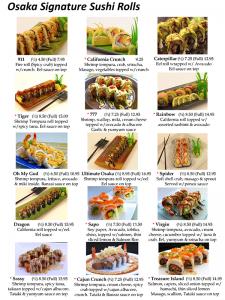 Sushi Menu Page 5