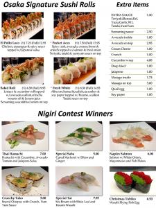 Sushi Menu Page 6