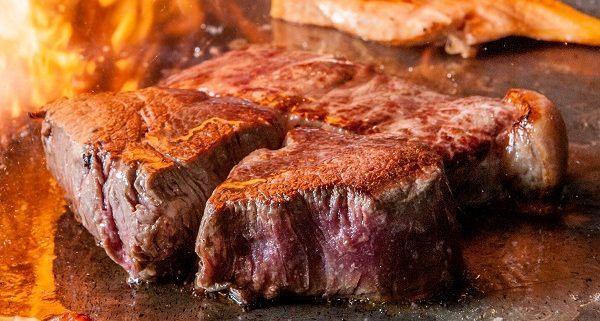 Osaka Las Vegas teppan grill sizzling steak