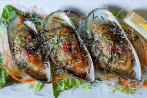 Baked Mussels prepared by Osaka Japanese Restaurant Las Vegas