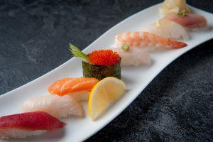 Delicious nigiri an example of sushi in Las Vegas
