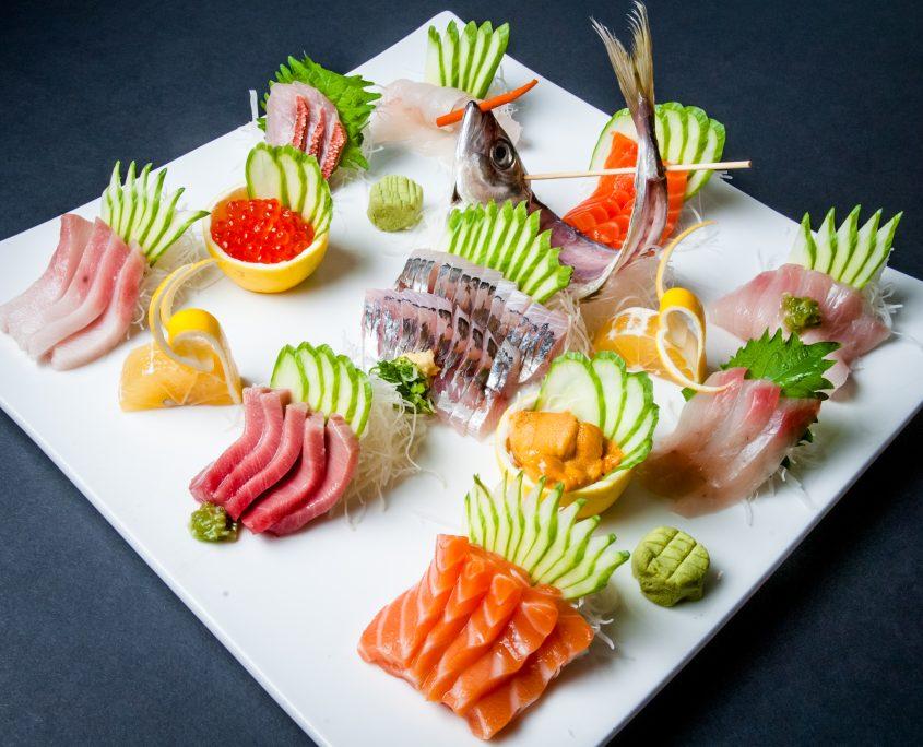 Osaka japanese restaurant sashimi plate