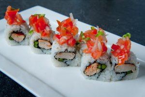 El Pollo Loco sushi roll example of uramaki sushi