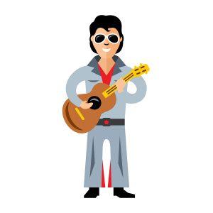 Cartoon Elvis Presley