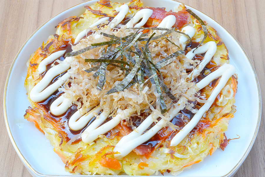 Japanese food okonomiyaki