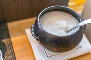 Japanese rice porridge breakfast food (okayu)