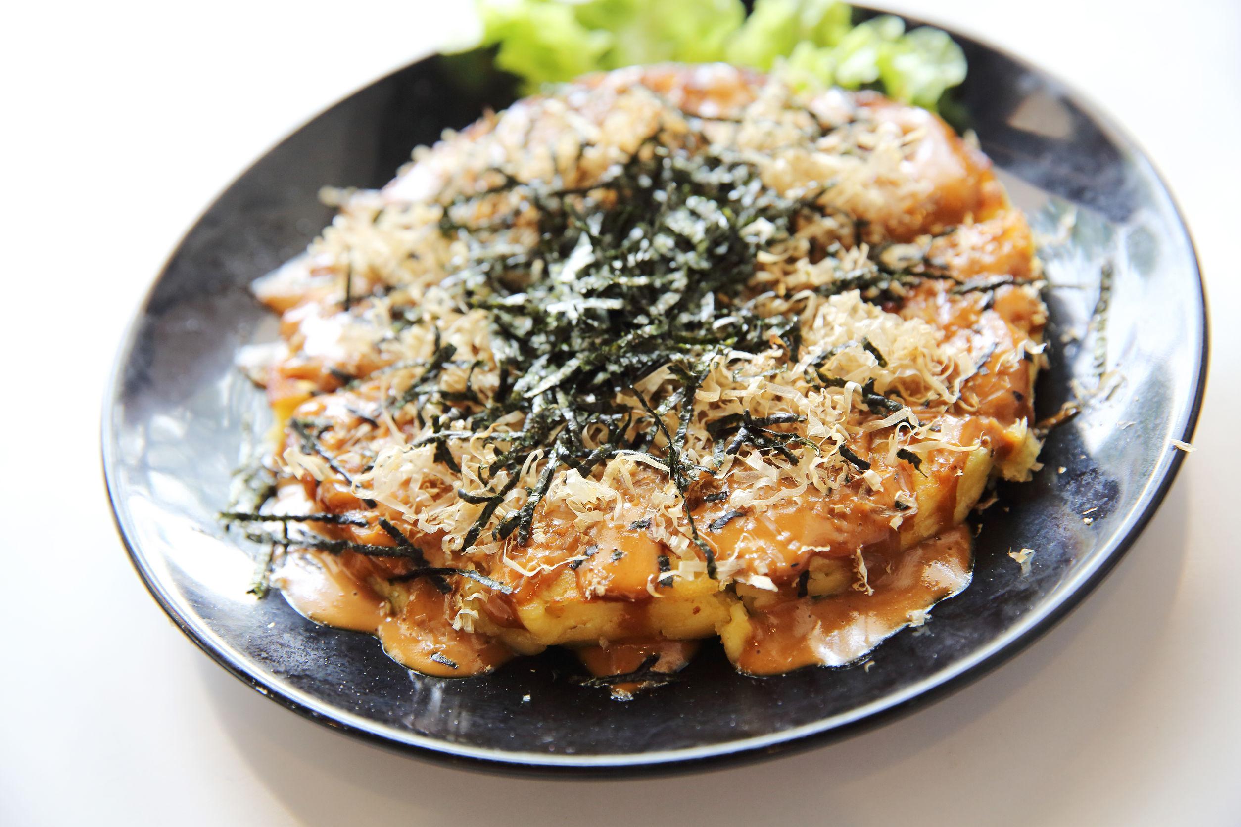 Okonomiyaki at Osaka Japanese Bistro
